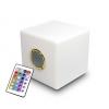 Cube lumineux led multicolore autonome avec haut parleur intégré bluetooth 40 x 40 x 40 cm