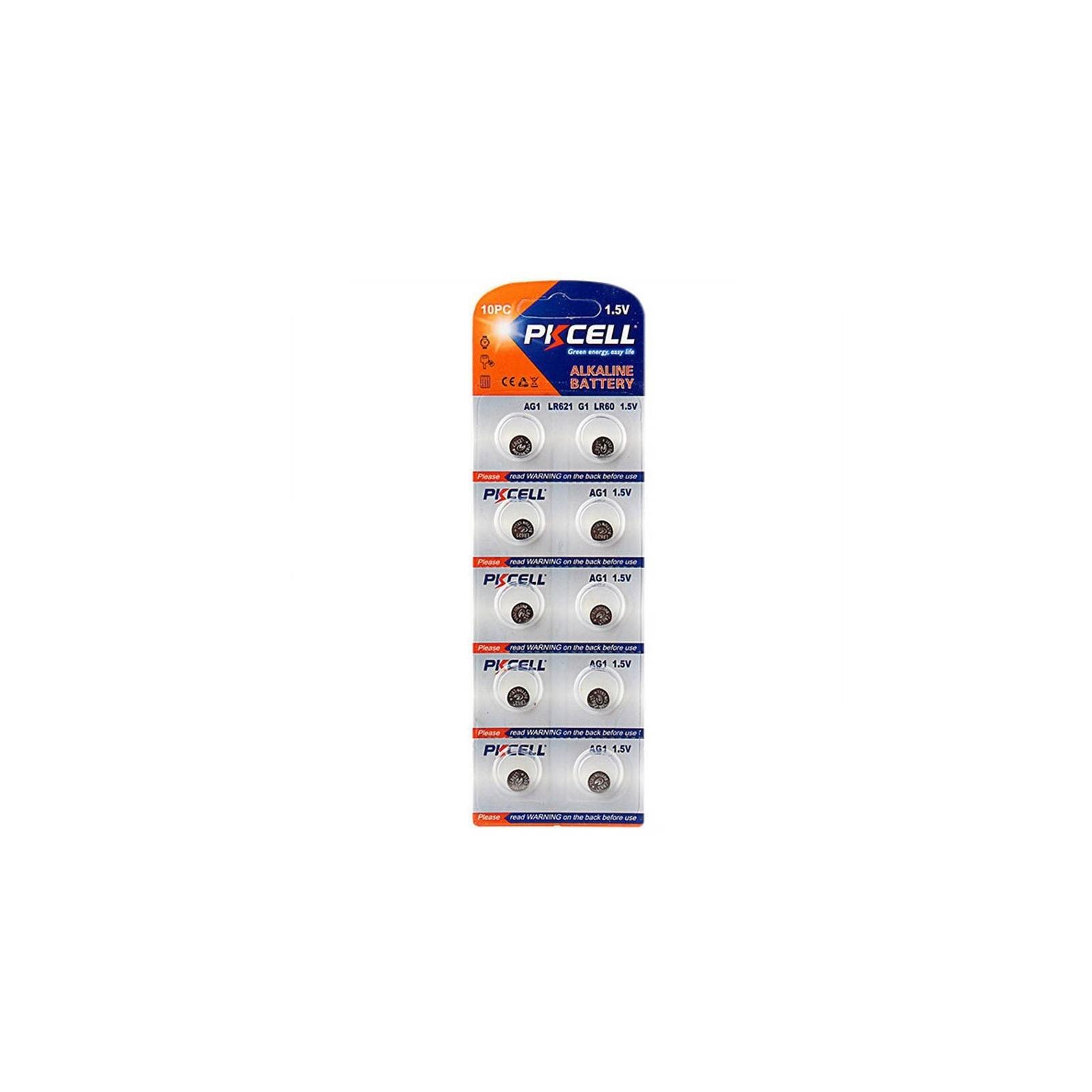 10 Piles Bouton AG1 Super Alcaline 1.5V PKCell