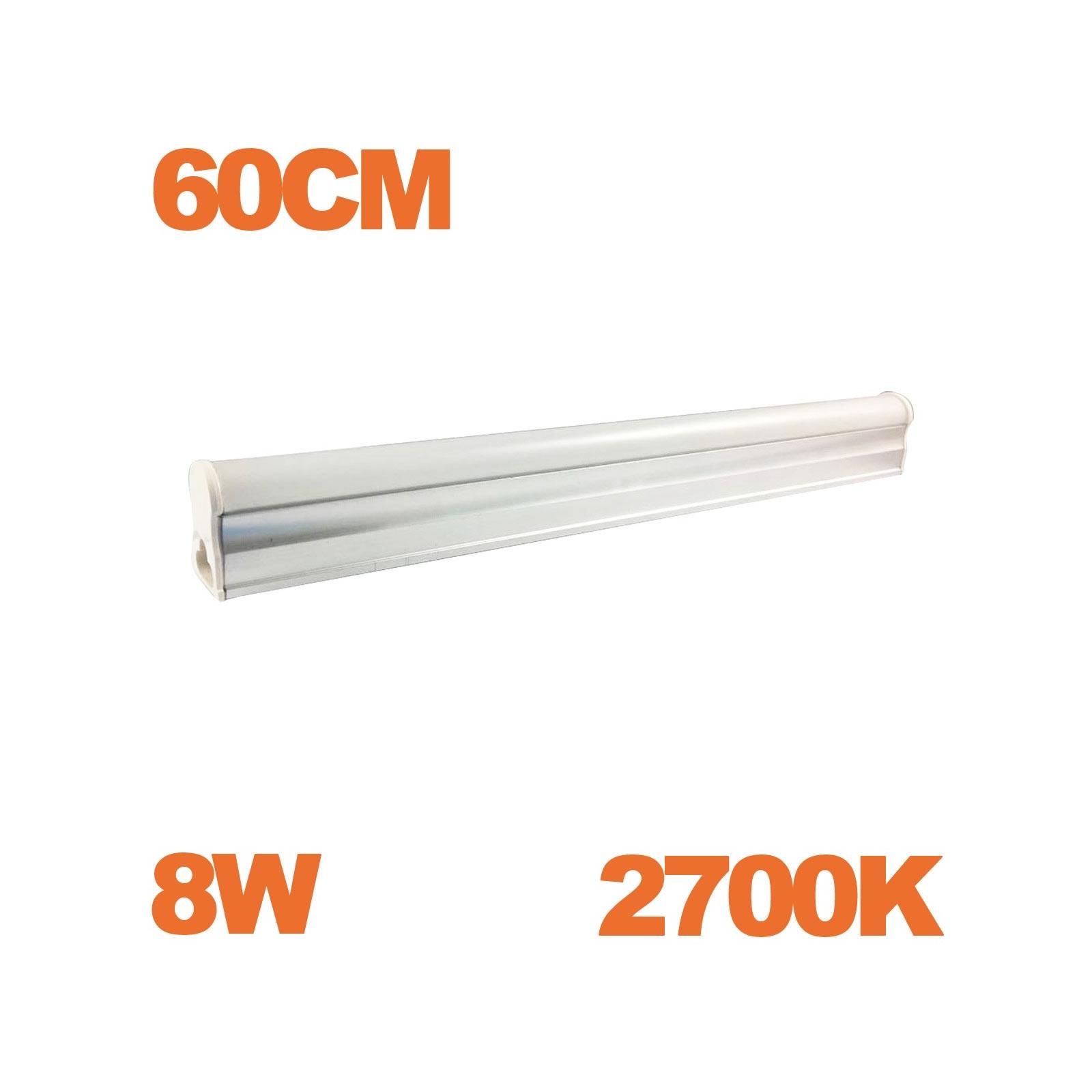 Tube LED T5 Puissance 8W Longueur 60cm Blanc Froid 6000K
