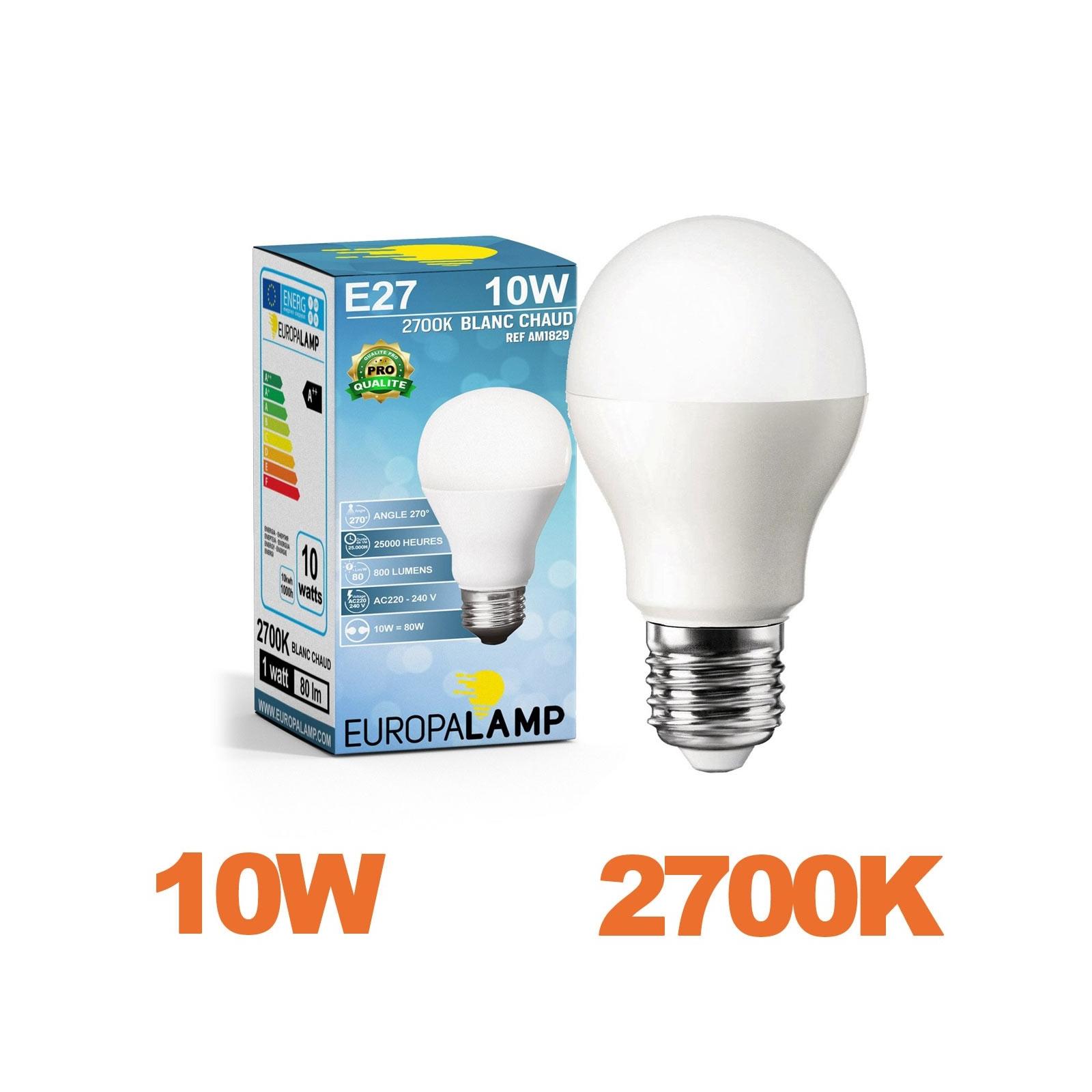 Blanc Culot 2700k Led Puissance Chaud Ampoule 10w E27 By6mf7gyiv UzVqMSp