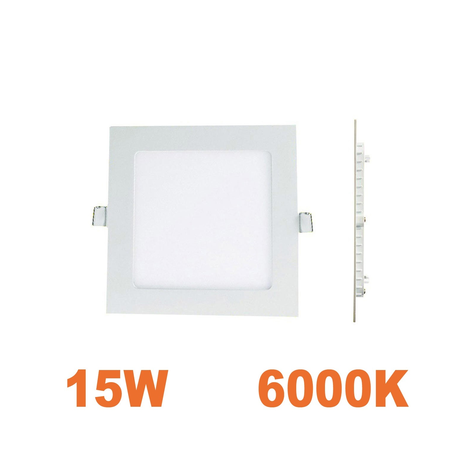 Spot Encastrable LED Carre Downlight Panel Extra-Plat 15W Blanc Froid 6000K