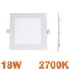 Spot Encastrable LED Carre Downlight Panel Extra-Plat 18W Blanc Chaud 2700K