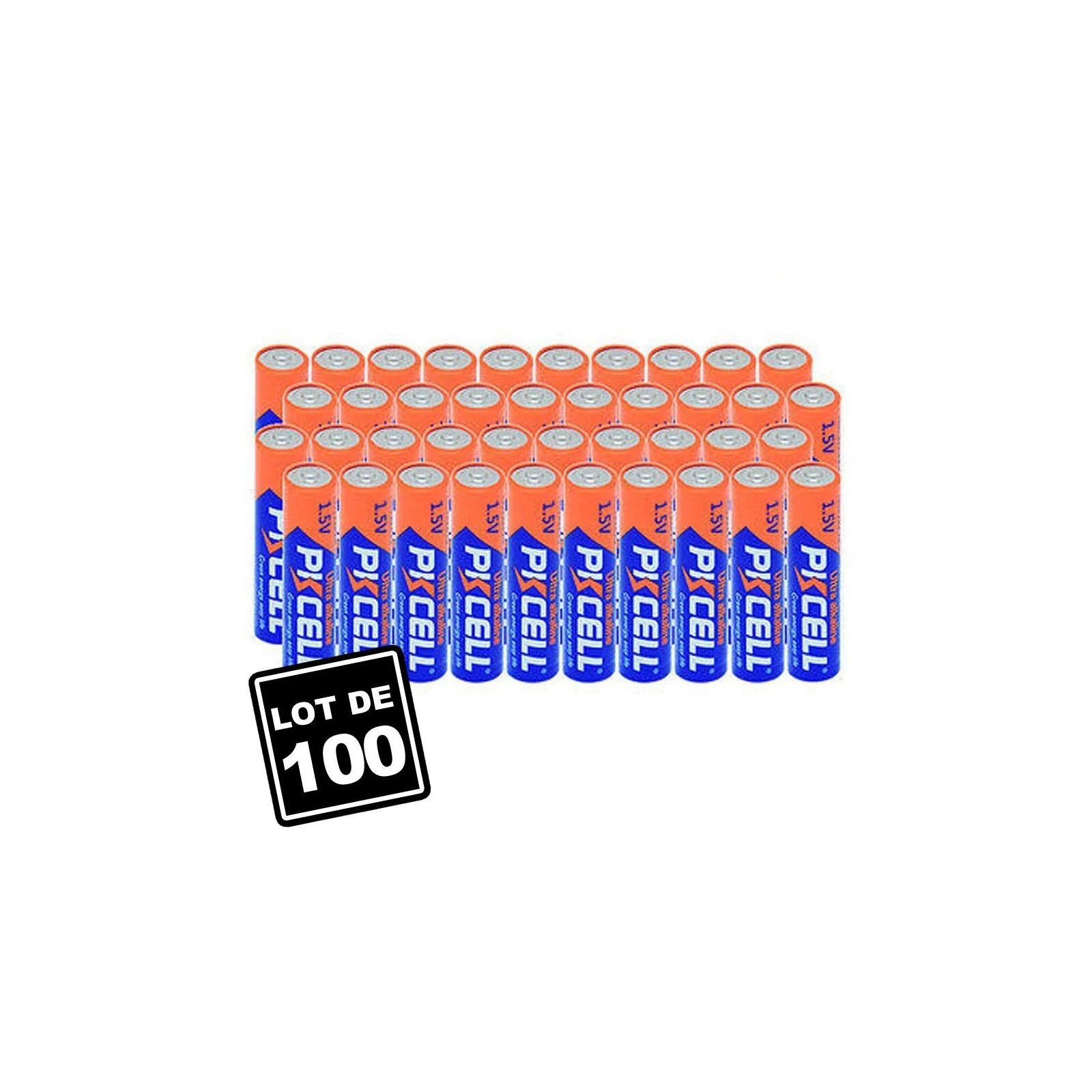 Lot de 100 Piles AAA LR03 Ultra Alcaline PKCell 1.5V