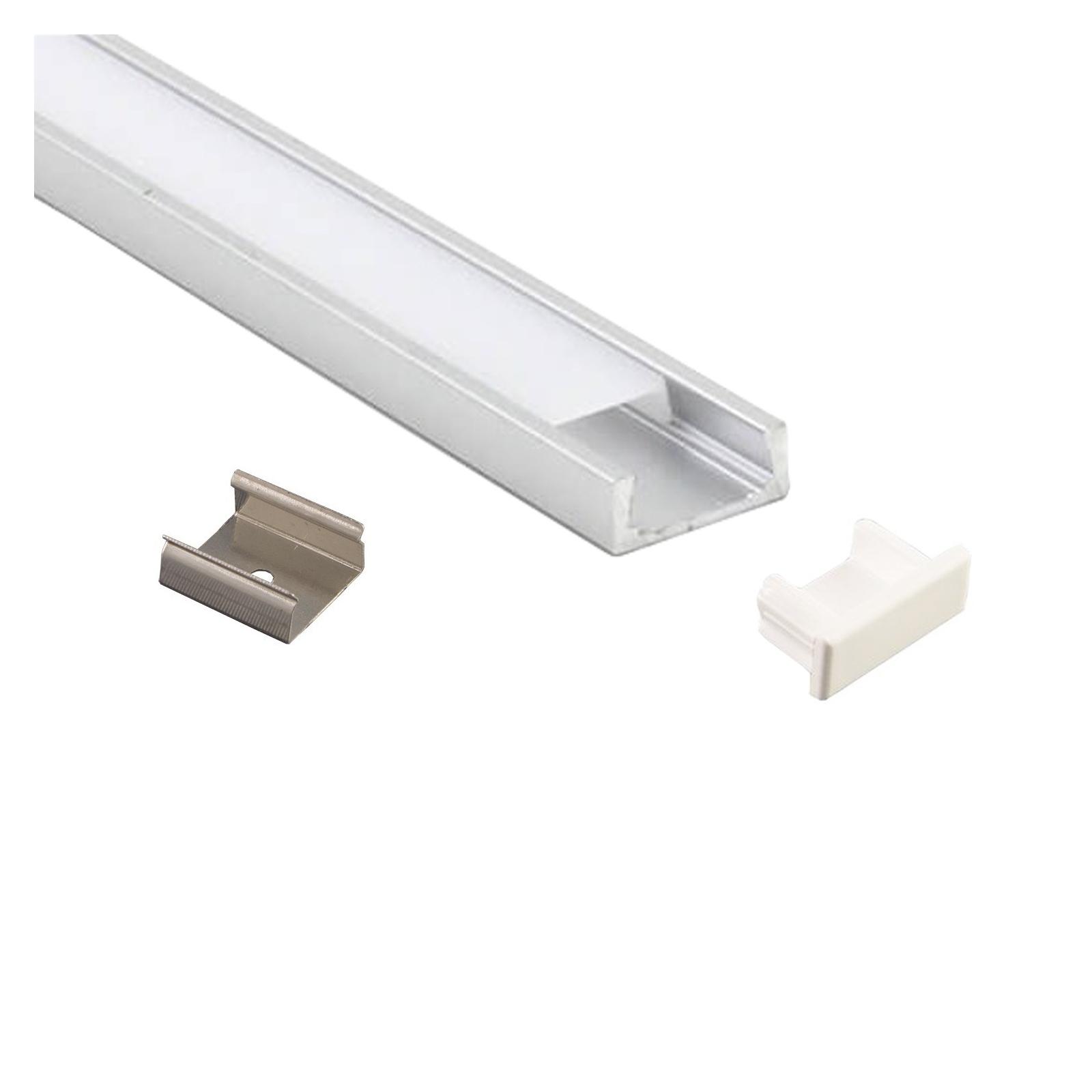 Bandeau Led Encastrable Plafond profile aluminium led plat 1m pour bandeau led