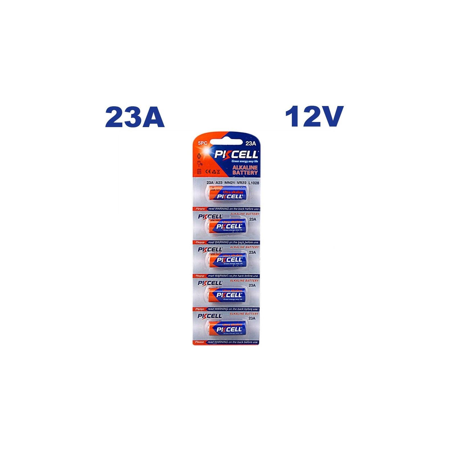 5 Piles 23A 12V Ultra Alcaline PKCell