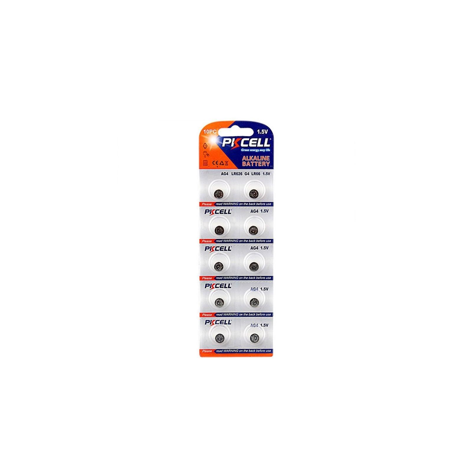 10 Piles Bouton AG4 Super Alcaline 1.5V PKCell