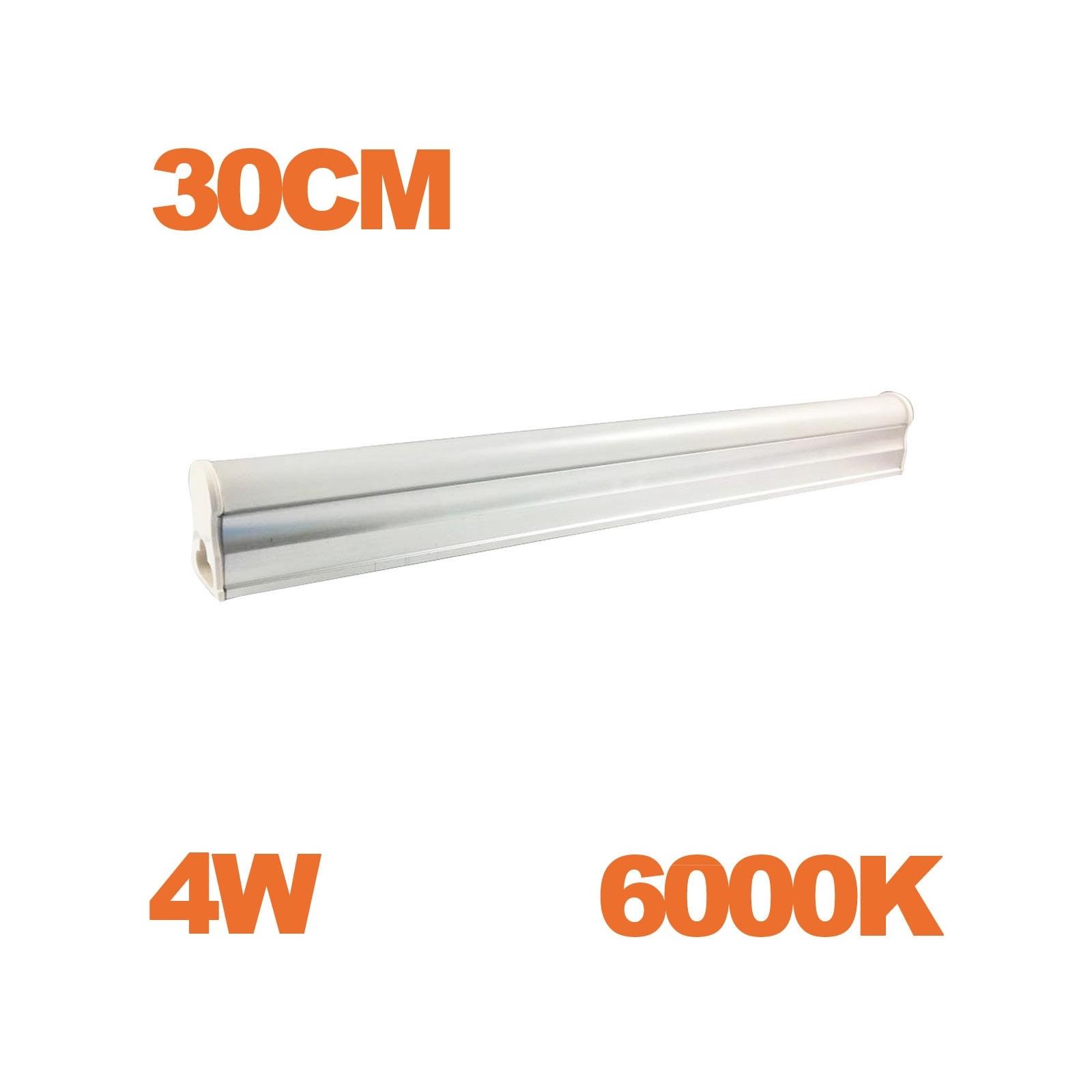 Tube LED T5 Puissance 4W Longueur 30cm Blanc Chaud 3000K