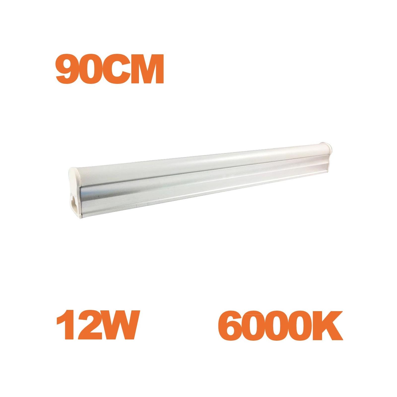 Tube LED T5 Puissance 12W Longueur 90cm Blanc Chaud 3000K