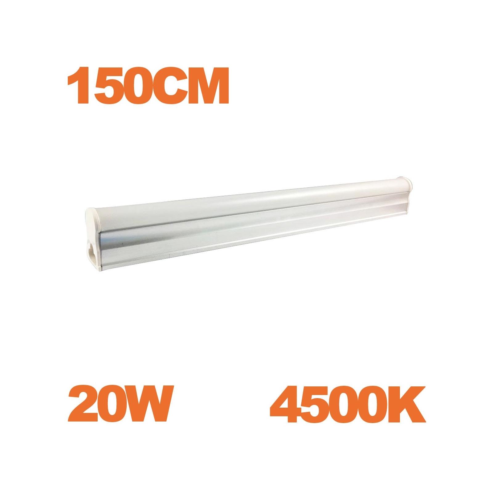 Tube LED T5 Puissance 20W Longueur 150cm Blanc Froid 6000K