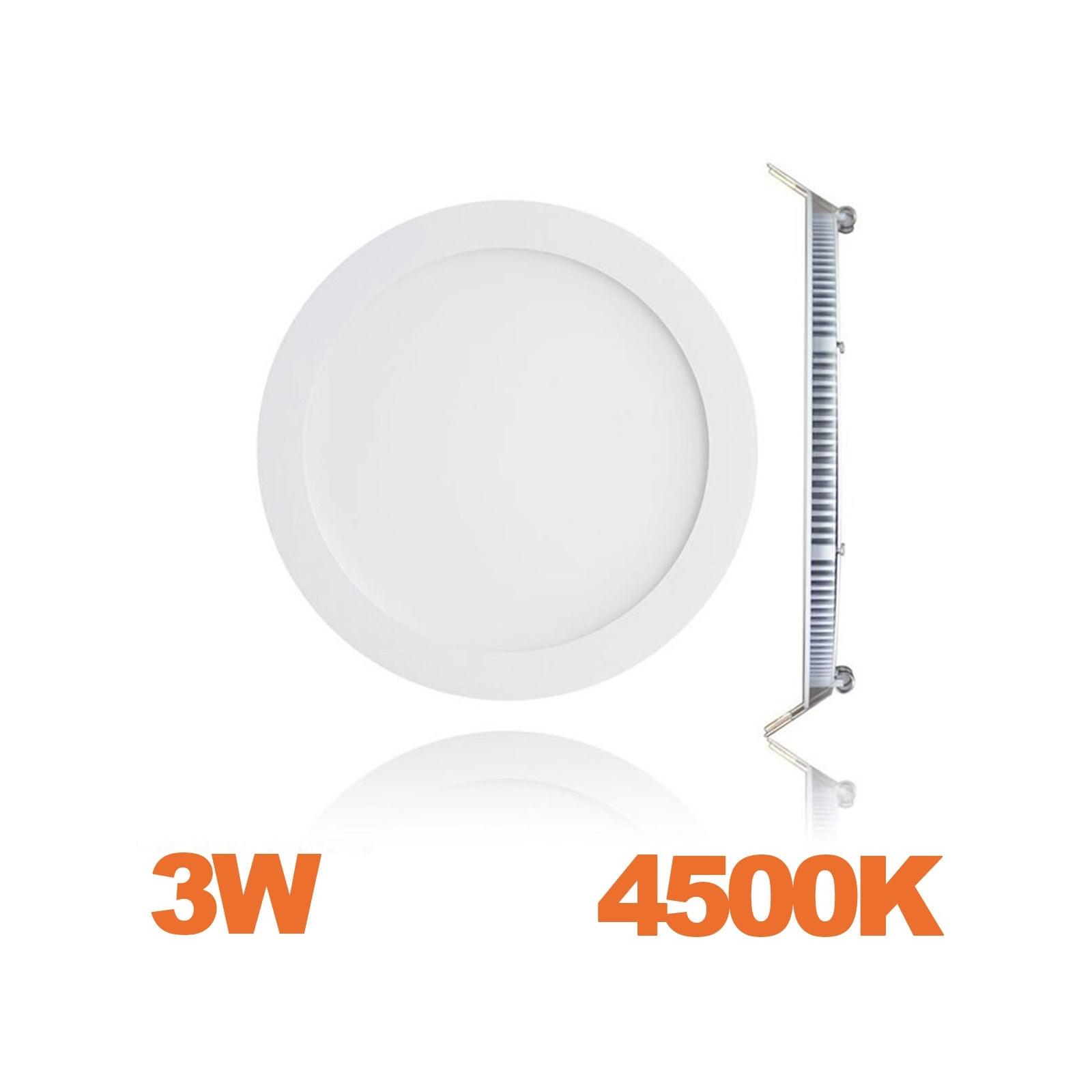 Spot Encastrable LED Downlight Panel Extra-Plat 3W Blanc Neutre 4500K