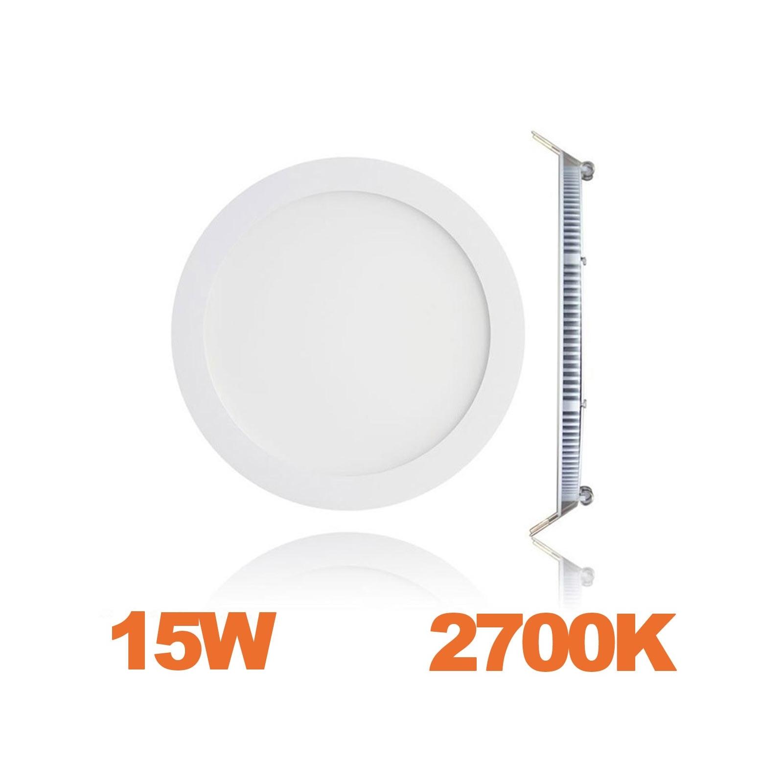 Spot Encastrable LED Downlight Panel Extra-Plat 15W Blanc Chaud 2700K