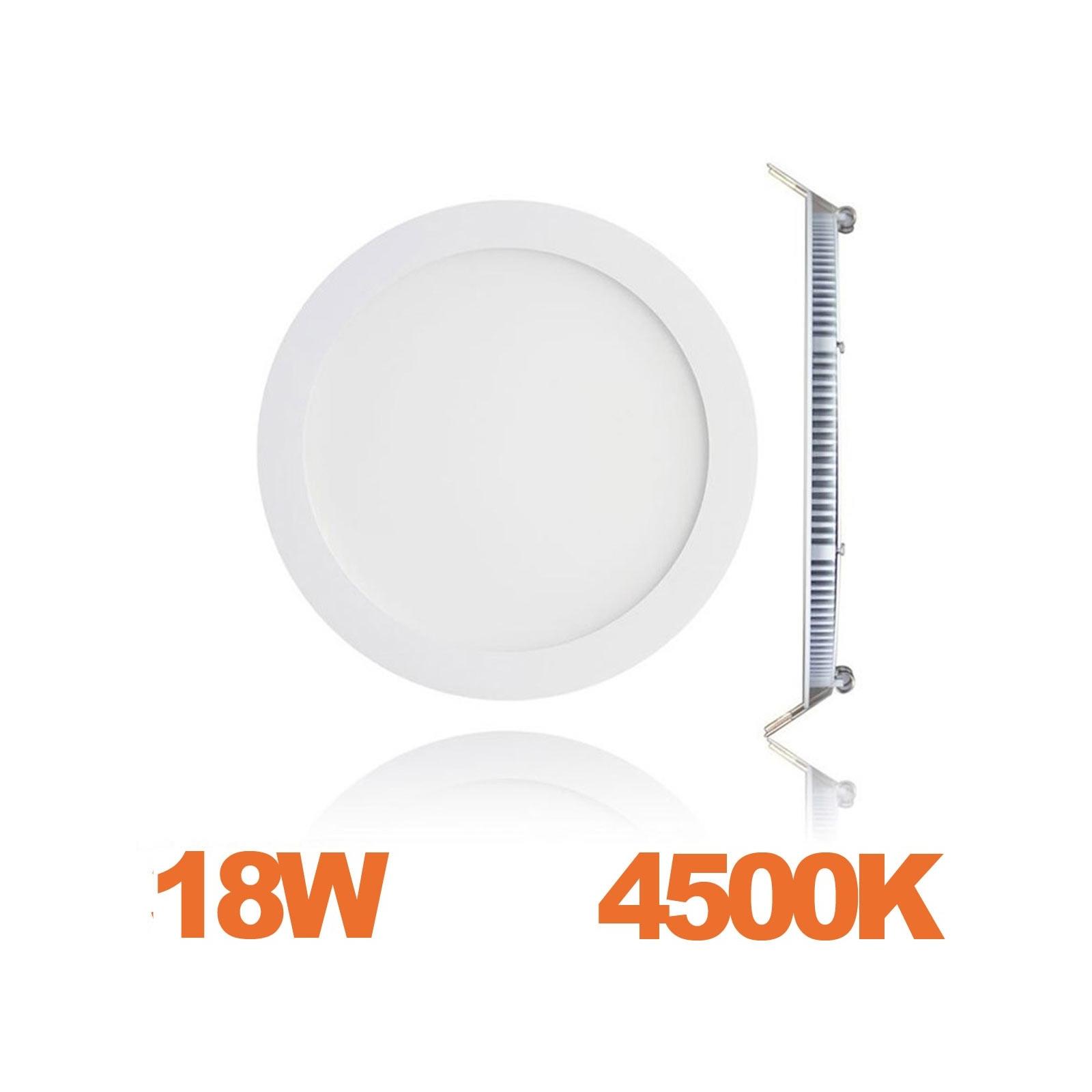 Spot Encastrable LED Downlight Panel Extra-Plat 18W Blanc Neutre 4500K