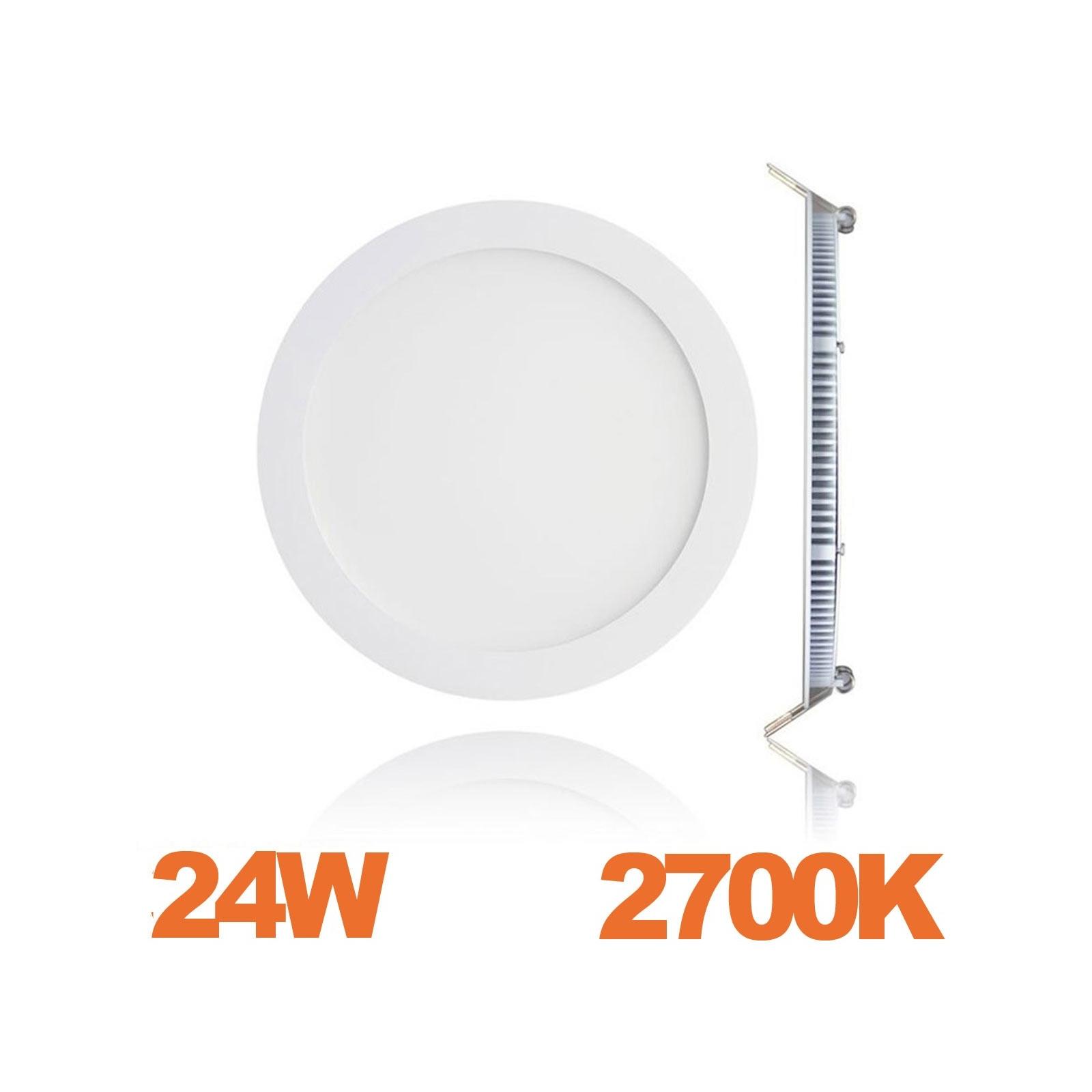 Spot Encastrable LED Downlight Panel Extra-Plat 24W Blanc Chaud 3000K