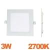 Spot Encastrable LED Carre Downlight Panel Extra-Plat 3W Blanc Chaud 2700k