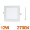 Spot Encastrable LED Carre Downlight Panel Extra-Plat 12W Blanc Chaud 2700K