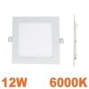 Spot Encastrable LED Carre Downlight Panel Extra-Plat 12W Blanc Froid 6000K