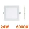 Spot Encastrable LED Carre Downlight Panel Extra-Plat 24W Blanc Froid 6000K
