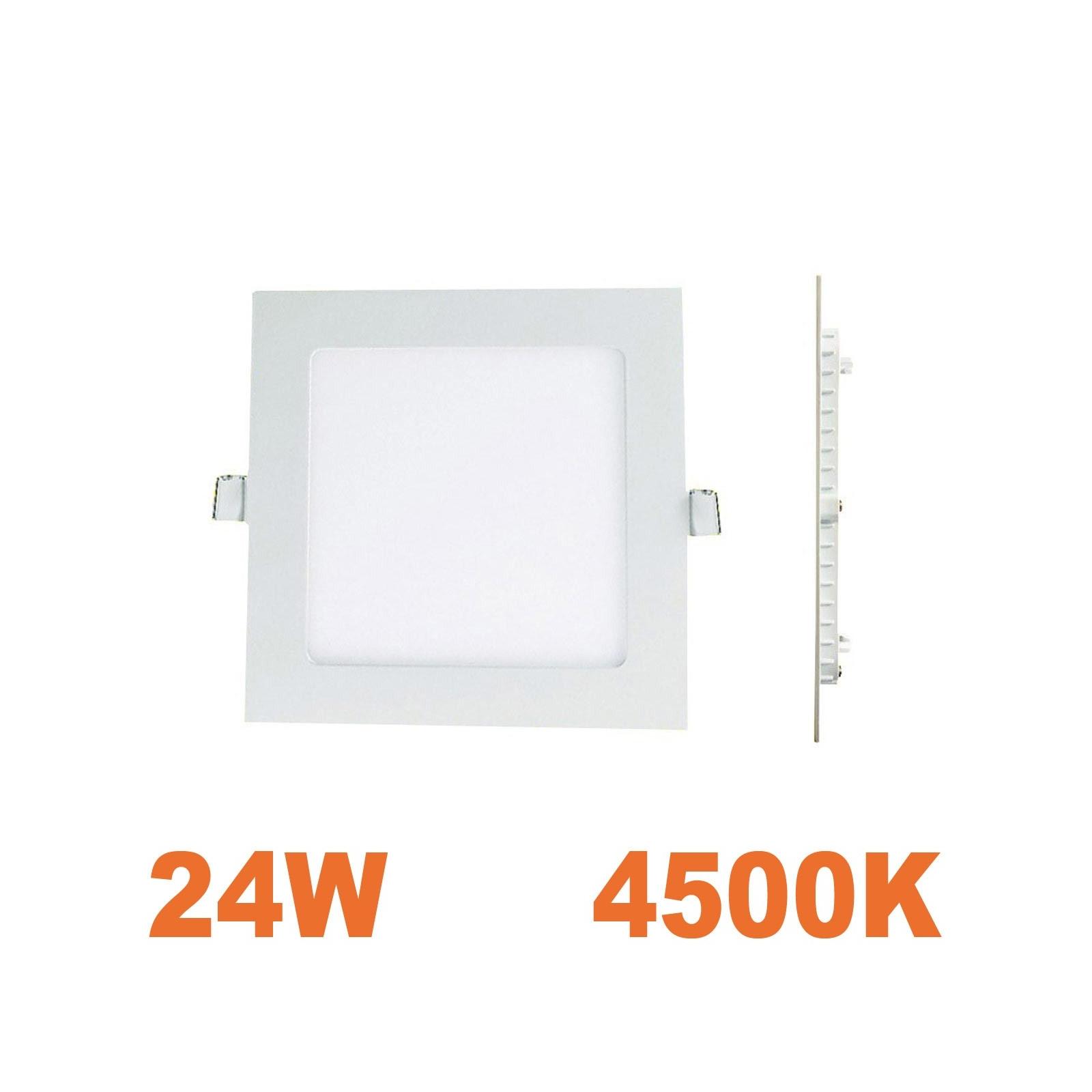 Spot Encastrable LED Carre Downlight Panel Extra-Plat 25W Blanc Neutre 4500k