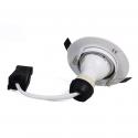 Lot de 5 Spot encastrable orientable BLANC avec GU10 LED de 7W eqv. 56W