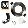 Lot de 50 Spots encastrable orientable ALU BROSSÉ avec GU10 LED de 5W eqv. 40W