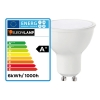 Lot 5 Supports Spots BBC INOX + Ampoule GU10 7W Blanc Chaud Dimmable + Douille