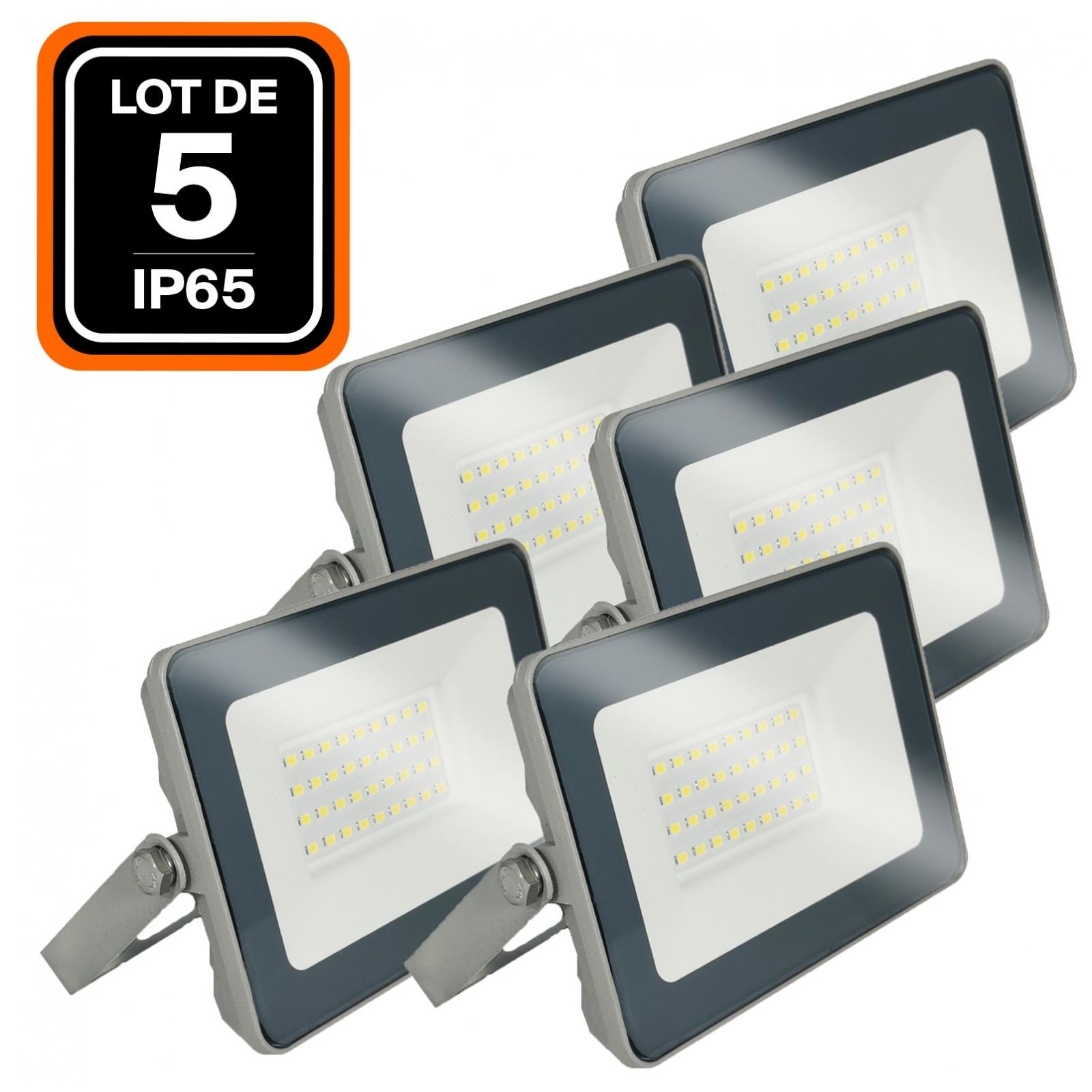 2 Projecteurs LED 20W Ipad Blanc chaud 2700K Haute Luminosité