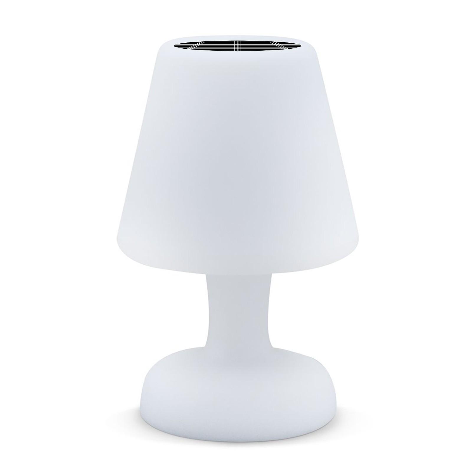 LAMPE DE TABLE LED 26 CM RECHARGE SOLAIRE ÉTANCHE IP65