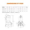 ESPA Pompe submersible de drainage pour eaux usées DRAINEX 202 MA - 30.000L/h - 16,3m max.