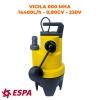 ESPA Pompe portable submersible pour les eaux usées VIGILEX 600 MHA - 14.400L/h - 7,7m max. - 230V