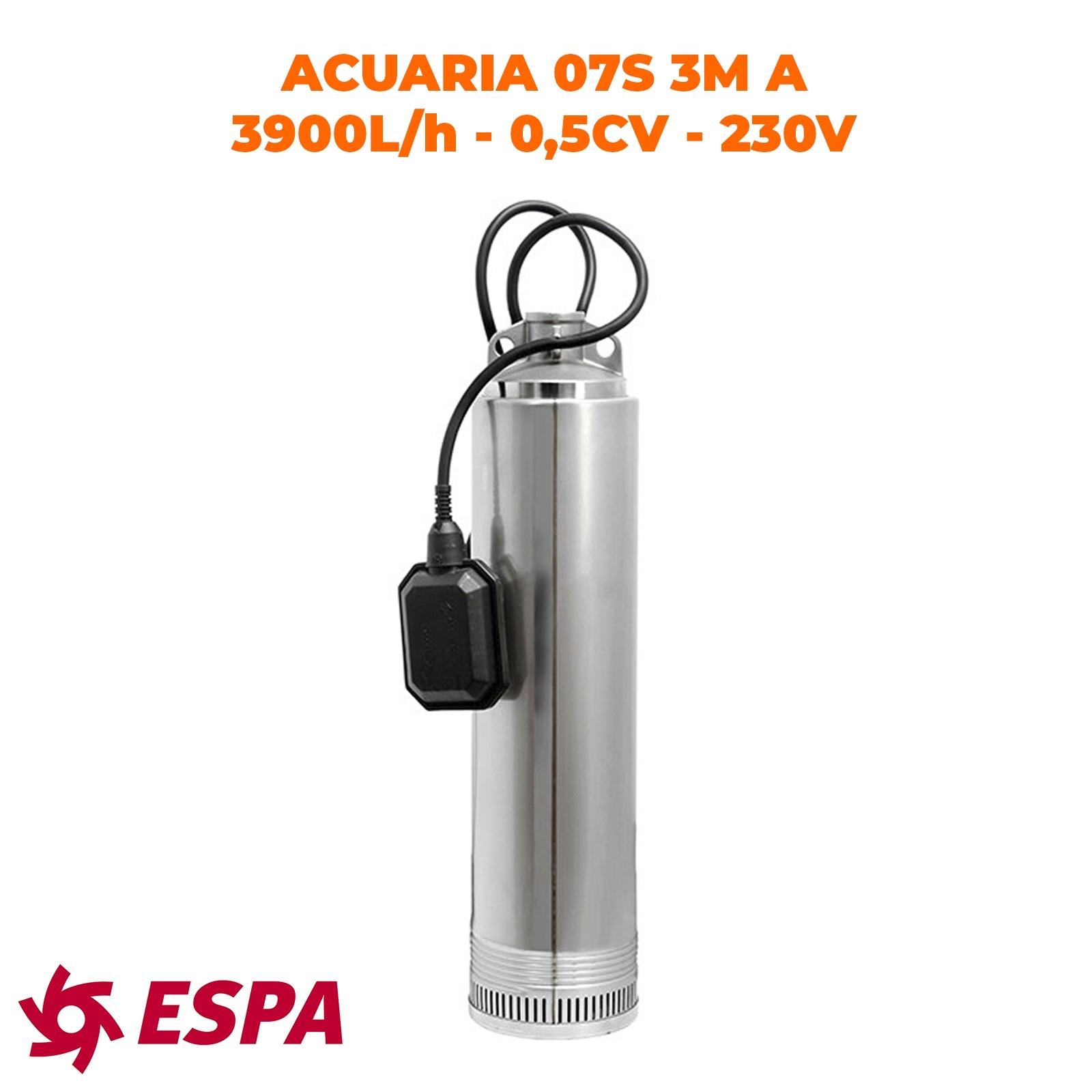 ESPA Pompe à eau submersible pour l'approvisionnement en eau ACUARIA 07S-3M A - 3.900L/h - 35,5m max.