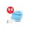 LOT DE 50 MASQUES DE PROTECTION CHIRURGICAUX JETABLE 3 PLIS TYPE II