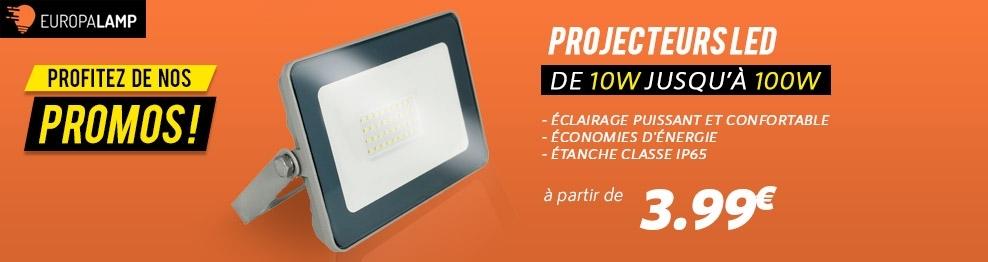 Projecteurs LED Intérieur 10W - 100W
