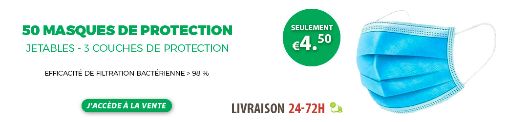 Masque FFP2 Protection Chirurgicale 3 Plis jetables